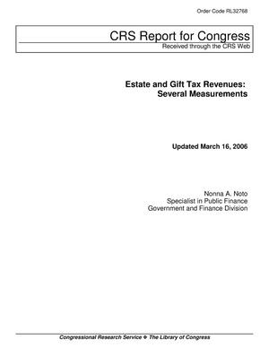 Primary view of object titled 'Estate and Gift Tax Revenues: Several Measurements'.