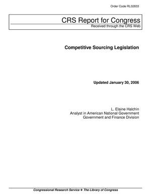Primary view of object titled 'Competitive Sourcing Legislation'.