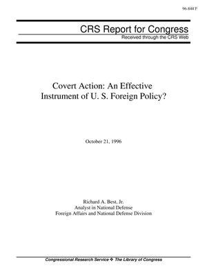 Primary view of object titled 'Covert Action: An Effective Instrument of U. S. Foreign Policy?'.