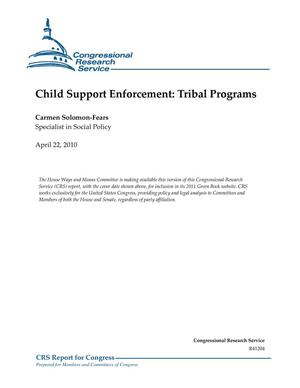 Primary view of object titled 'Child Support Enforcement: Tribal Programs'.