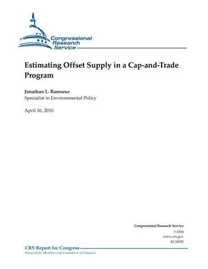 Primary view of object titled 'Estimating Offset Supply in a Cap-and-Trade Program'.