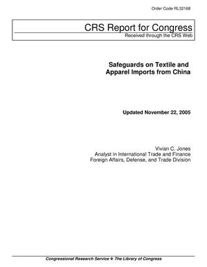 Primary view of object titled 'Safeguards on Textile and Apparel Imports from China'.