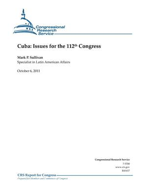 Primary view of object titled 'Cuba: Issues for the 112th Congress'.