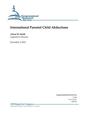Primary view of object titled 'International Parental Child Abductions'.