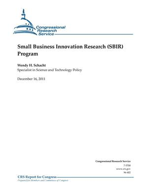 Primary view of object titled 'Small Business Innovation Research (SBIR) Program'.