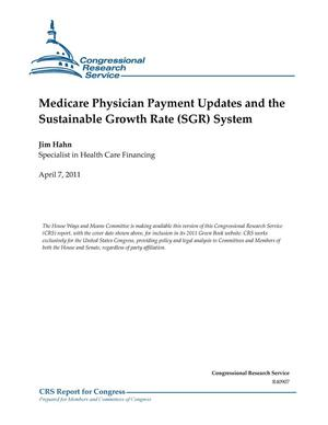 Primary view of object titled 'Medicare Physician Payment Updates and the Sustainable Growth Rate (SGR) System'.