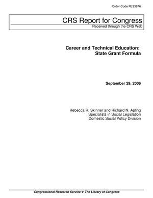 Primary view of object titled 'Career and Technical Education: State Grant Formula'.