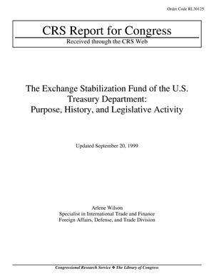 Primary view of object titled 'The Exchange Stabilization Fund of the U.S. Treasury Department: Purpose, History, and Legislative Activity'.