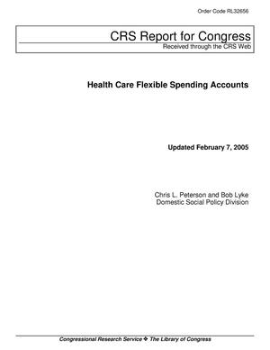 Primary view of object titled 'Health Care Flexible Spending Accounts'.