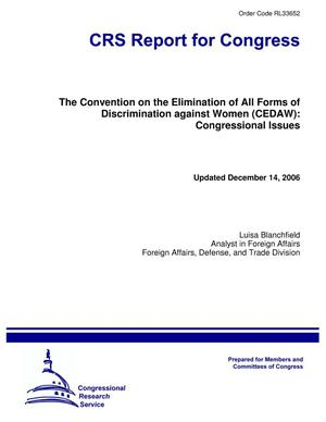 Primary view of object titled 'The Convention on the Elimination of All Forms of Discrimination against Women (CEDAW): Congressional Issues'.