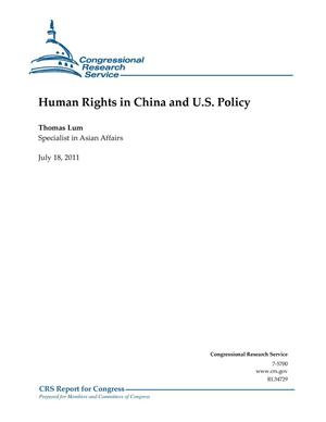 Primary view of object titled 'Human Rights in China and U.S. Policy'.