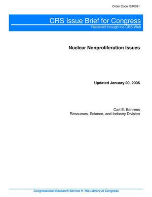 Primary view of object titled 'Nuclear Nonproliferation Issues'.