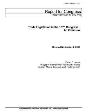 Primary view of object titled 'Trade Legislation in the 107th Congress: An Overview'.
