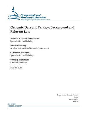 Primary view of object titled 'Genomic Data and Privacy: Background and Relevant Law'.