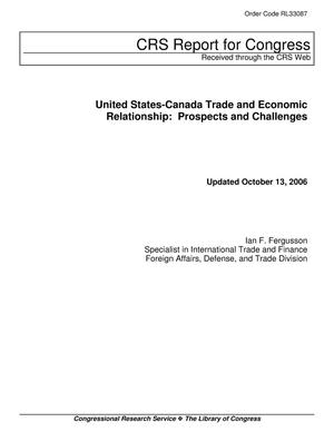 Primary view of object titled 'United States-Canada Trade and Economic Relationship: Prospects and Challenges'.