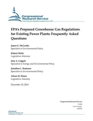 Primary view of object titled 'EPA's Proposed Greenhouse Gas Regulations for Existing Power Plants: Frequently Asked Questions'.