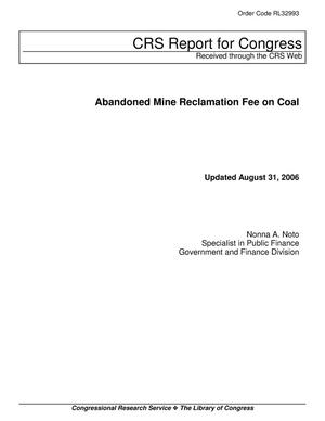 Primary view of object titled 'Abandoned Mine Reclamation Fee on Coal'.