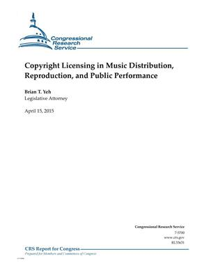 Primary view of object titled 'Copyright Licensing in Music Distribution, Reproduction, and Public Performance'.