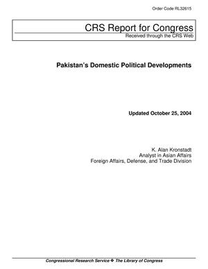 Primary view of object titled 'Pakistan's Domestic Political Developments'.