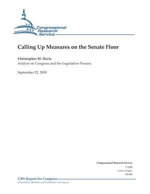 Primary view of object titled 'Calling Up Measures on the Senate Floor'.