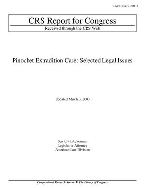 Primary view of object titled 'Pinochet Extradition Case: Selected Legal Issues'.