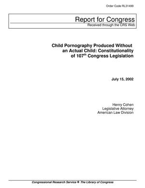Primary view of object titled 'Child Pornography Produced Without an Actual Child: Constitutionality of 107th Congress Legislation'.