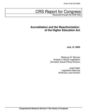 Primary view of object titled 'Accreditation and the Reauthorization of the Higher Education Act'.