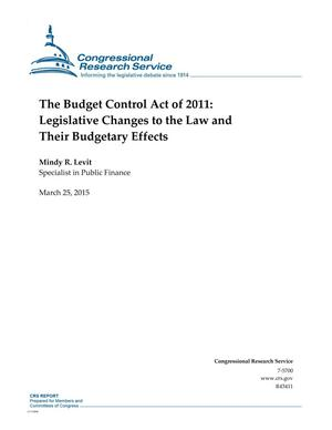 Primary view of object titled 'The Budget Control Act of 2011: Legislative Changes to the Law and Their Budgetary Effects'.