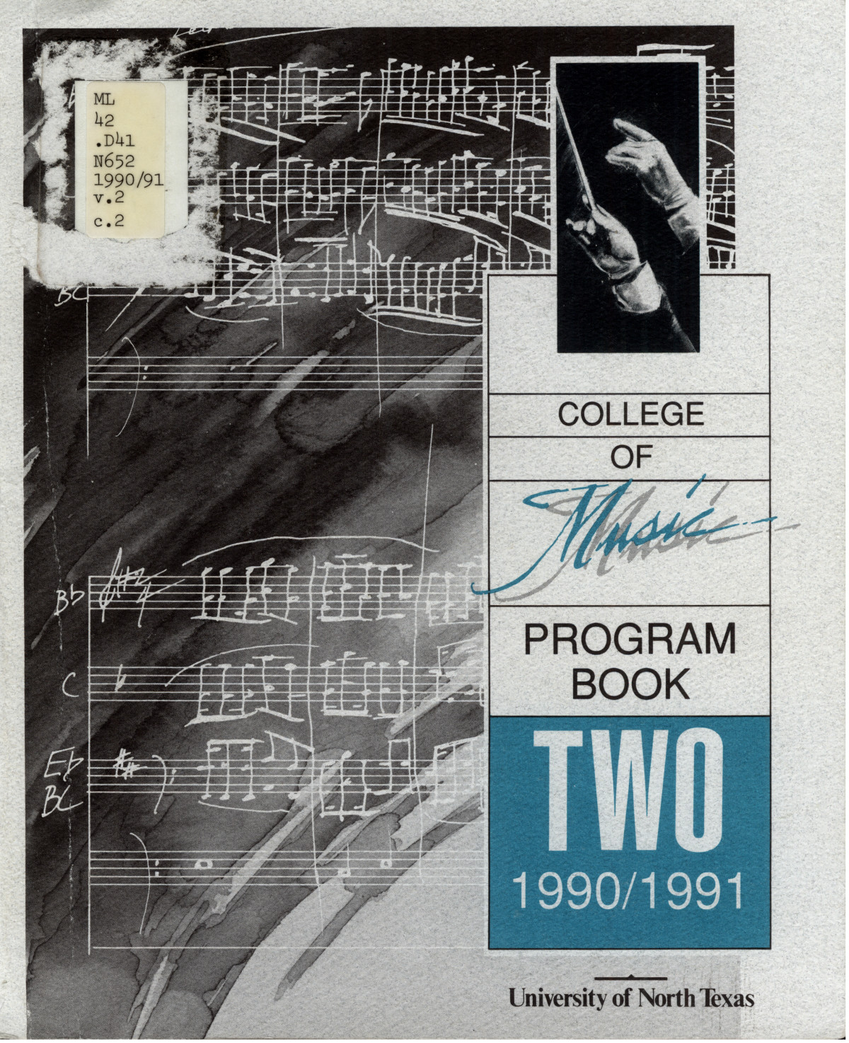 College of Music program book 1990-1991 Vol. 2                                                                                                      [Sequence #]: 1 of 417
