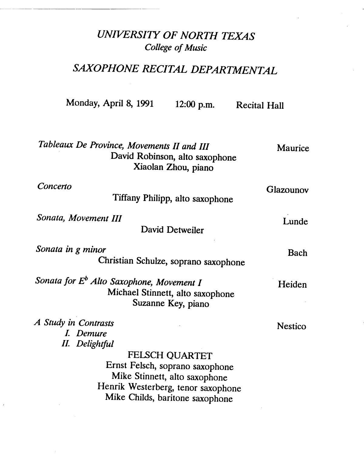 College Of Music Program Book 1990 1991 Vol 2 Page 297 Of 417