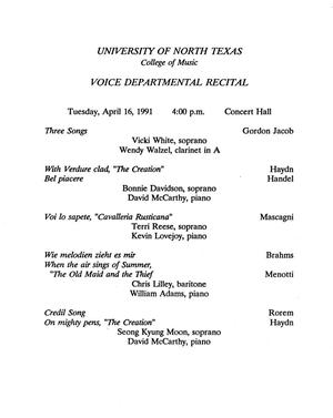 College of Music program book 1990-1991 Vol  2 - Page 325 of