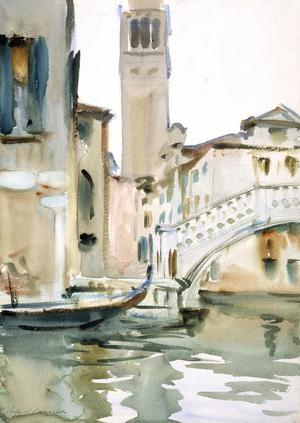 Primary view of object titled 'Bridge and Campanile, Venice'.