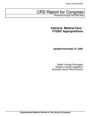 Primary view of object titled 'Veterans' Medical Care: FY2007 Appropriations'.