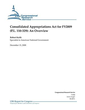 Primary view of object titled 'Consolidated Appropriations Act for FY2009 (P.L. 110-329): An Overview'.
