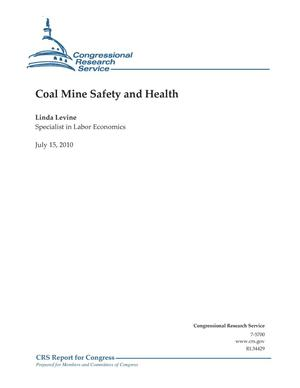 Primary view of object titled 'Coal Mine Safety and Health'.