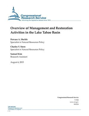 Primary view of object titled 'Overview of Management and Restoration Activities in the Lake Tahoe Basin'.