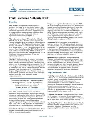 Primary view of object titled 'Trade Promotion Authority (TPA)'.