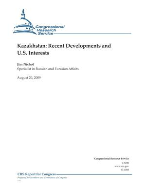 Primary view of object titled 'Kazakhstan: Recent Developments and U.S. Interests'.