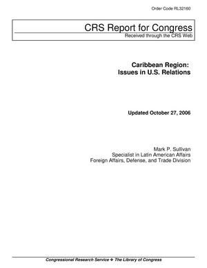 Primary view of object titled 'Caribbean Region: Issues in U.S. Relations'.