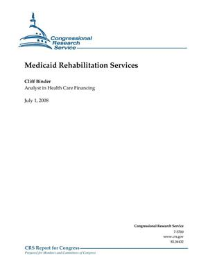 Primary view of object titled 'Medicaid Rehabilitation Services'.