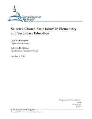 Primary view of object titled 'Selected Church-State Issues in Elementary and Secondary Education'.