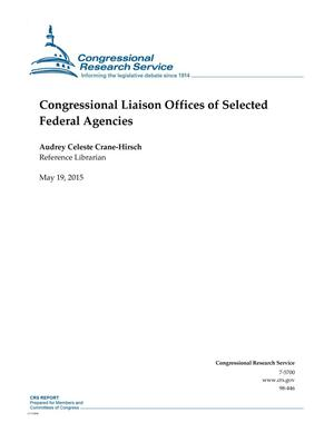 Primary view of object titled 'Congressional Liaison Offices of Selected Federal Agencies'.