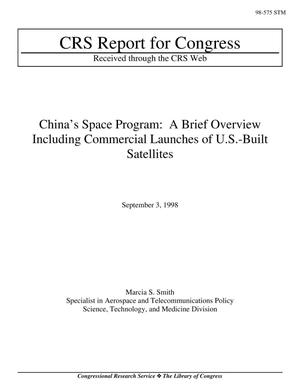 Primary view of object titled 'China's Space Program: A Brief Overview Including Commercial Launches of U.S.-Built Satellites'.