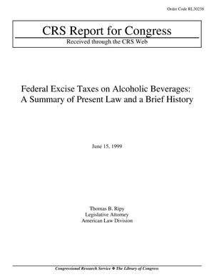 Primary view of object titled 'Federal Excise Taxes on Alcoholic Beverages: A Summary of Present Law and a Brief History'.