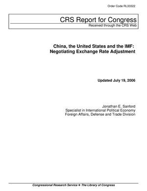 Primary view of object titled 'China, the United States and the IMF: Negotiating Exchange Rate Adjustment'.