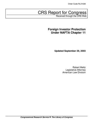 Primary view of object titled 'Foreign Investor Protection Under NAFTA Chapter 11'.