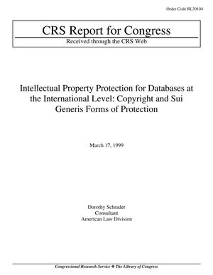 Primary view of object titled 'Intellectual Property Protection for Databases at the International Level: Copyright and Sui Generis Forms of Protection'.
