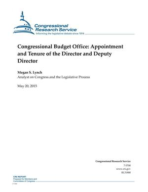 Primary view of object titled 'Congressional Budget Office: Appointment and Tenure of the Director and Deputy Director'.