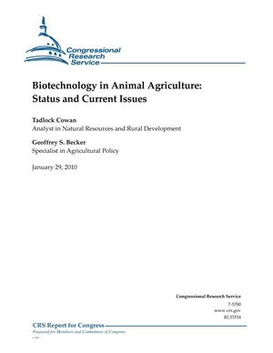 Primary view of object titled 'Biotechnology in Animal Agriculture: Status and Current Issues'.