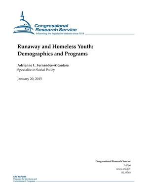 Primary view of object titled 'Runaway and Homeless Youth: Demographics and Programs'.